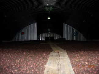 The bulk storage method is used for potato storage